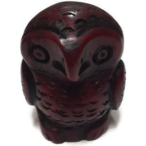Small handmade owl statue ~ 1.5 inches tall